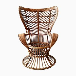 Emanuelle Rattan Chair by Gio Ponti and Leo Carminati for Bonacina