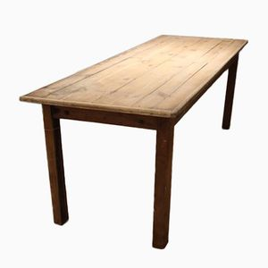 Vintage Pine Dining Table with Beech Legs
