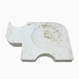 Bol Rhino en Travertine de Fratelli Mannelli, 1970s