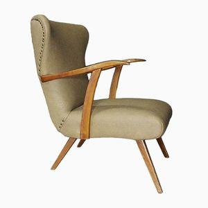 Mid-Century Vinyl Club Chair