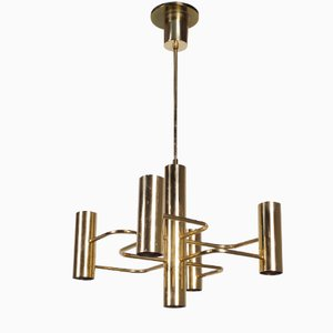 Vintage Brass Chandelier from Leola