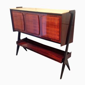 Italian Bar Cabinet with Marble Top, 1950s