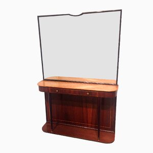 Rosewood Console with Mirror, 1950s