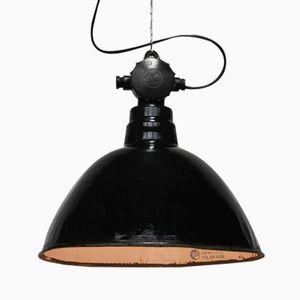 Large Industrial Factory Bauhaus Lamp by Leuchtenbau Wittenberg, 1950s