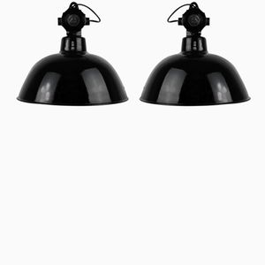 Industrial Lamps from Leuchtenbau Wittenberg, 1930s, Set of 2