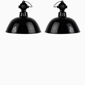 Industrielampen von Leuchtenbau Wittenberg, 1930er, 2er Set