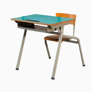 Industrial Children's School Desk with Chair from Tubax, 1950s