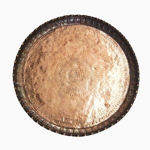 Antikes Arabisches Kupfer Tablett mit Mustern