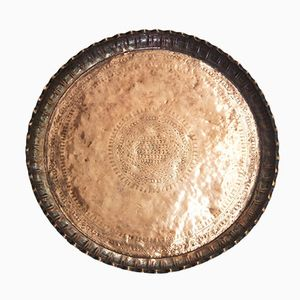 Antique Arabic Patterned Copper Tray