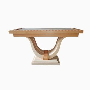 Console Table by Eric Maville for Jean-Claude Mahey, 1975