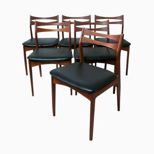 Chaises de Salon par Christian Linneberg, Danemark, 1960s, Set de 6