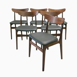 Chaises de Salon en Palissandre d Schionning & Elgaard, Danemark, 1960s, Set de 6