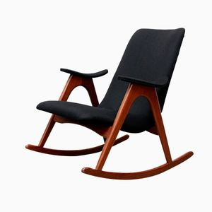 Dutch Mid-Century Rocking Chair by Louis van Teeffelen for WéBé, 1960s