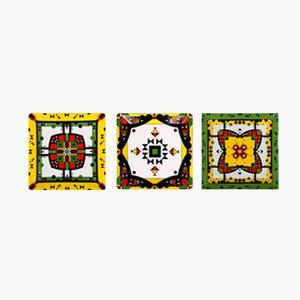 Kaleido Dreams Porcelain Plates by Kostas Neofitidis for Kota, Set of 3