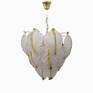 Deckenlampe aus 18 Murano Glasstücken von Mazzega, 1960er