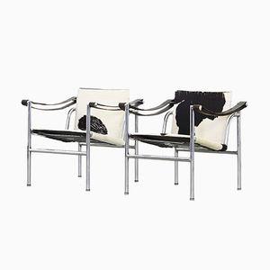 LC 1 Sessel von Le Corbusier für Cassina, 2er Set