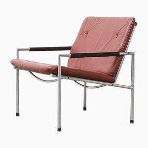 Vintage SZ03 Leder Armlehnstuhl von Martin Visser für 't Spectrum