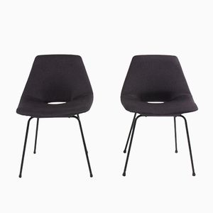 Tonneau Chairs by Pierre Guariche for Steiner, 1950, Set of 2