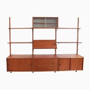 Swedish Teak Wall Unit from Royal Board, 1960s