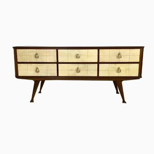 Mahogany and Parchment Dresser, 1950s