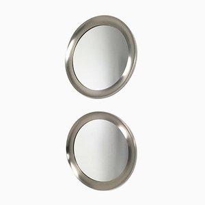 Spiegel mit Stahlrahmen von Sergio Mazza für Artemide, 1950er, 2er Set
