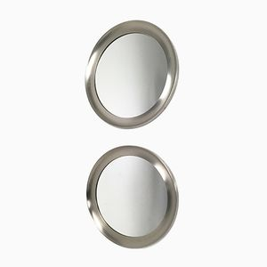 Steel Mirrors by Sergio Mazza for Artemide, 1950s, Set of 2