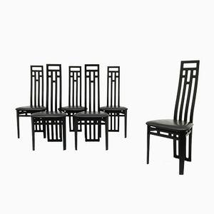 Chaises de Salon de A. Sibau, 1980s, Set de 6
