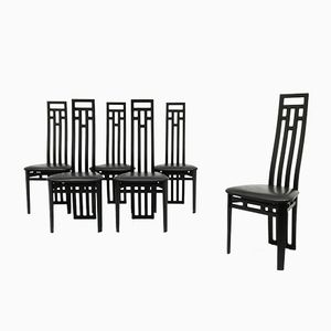 Italian Dining Chairs from A. Sibau, 1980s, Set of 6