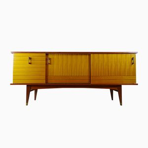 French Two-Tone Teak Sideboard, 1960s