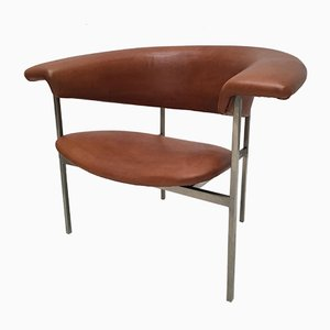 Leather Gamma Easy Chair by Rudolf Wolf for Gaasbeek & Van Tiel, 1960s