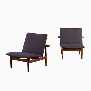 Vintage Modell 137 Japanische Sessel von Finn Juhl für France & Søn, 2er Set