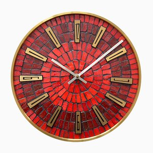 German Mosaic Wall Clock from Junghans, 1950s