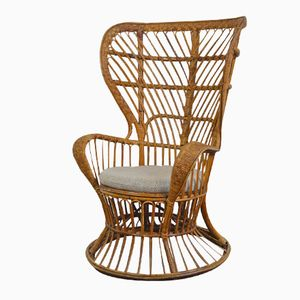 Rattan Chair by Lio Carminati and Gio Ponti for Vittoro Bonacina & Co., 1940s