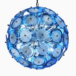 Large Blue Vintage Sputnik Style Ceiling Light