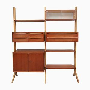 German Teak Wall Unit, 1950s