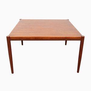 Square Danish Teak Veneer Coffee Table, 1960s