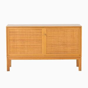 Oak and Rattan Sideboard by Alf Svensson for Bjästa, 1960s