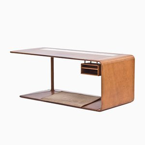 Maßgeschneiderter Leder-Schreibtisch von NK, 1965