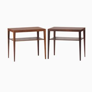 Danish Rosewood Bedside Tables by Severin Hansen for Haslev, Set of 2