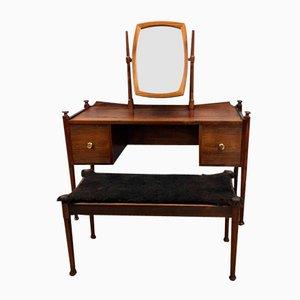 Danish Rosewood Dressing Table & Stool, 1965