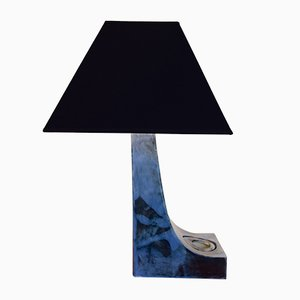 Blue Geometric Table Lamp