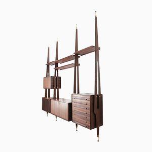 Italian Rosewood Wall Unit from Galleria Mobili d'Arte Cantù, 1950