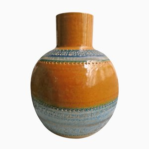 Italian Ochre Vase by Aldo Londi for Bitossi