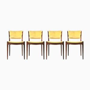 Minimalist Rosewood Dining Chairs, Set of 4
