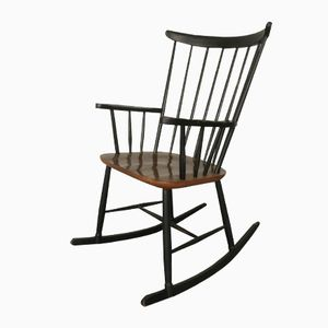 Bi-Colored Fanett Rocking Chair, 1960s