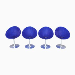 Vintage Eros Swivel Chairs by Philippe Starck for Kartell, Set of 4