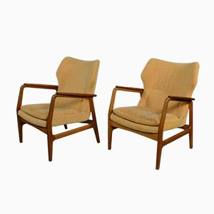Wingback Lounge Chairs by Aksel Bender Madsen for Bovenkamp, 1968, Set of 2