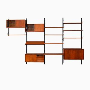 Teak Modular Wall Unit by Poul Cadovius, 1960s