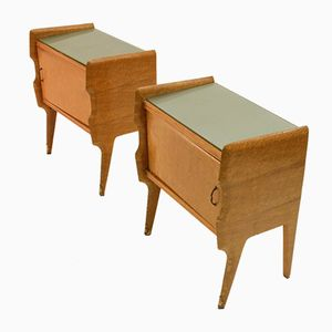 Italian Mid-Century Bedside Tables, 1950s, Set of 2