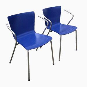 Stapelbare VM 101 Stühle von Vico Magistretti für Fritz Hansen, 2000, 2er Set